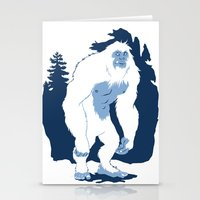yeti Stationery Cards featuring Yeti by Rachel Young