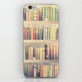 Dream with Books - Love of Reading Bookshelf Collage iPhone Skin