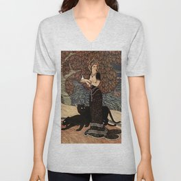 """Circe the Enchantress"" by Edmund Dulac Unisex V-Neck"
