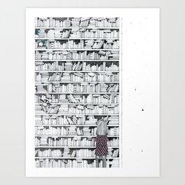 Browsing Art Print