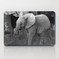 baby elephant iPad Cases featuring Baby Elephant by C. Bright