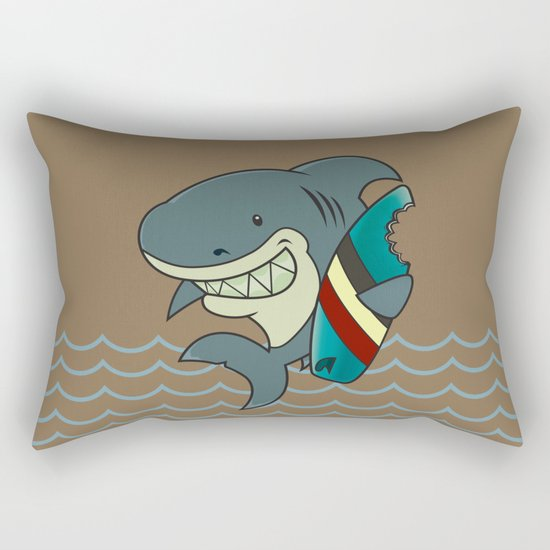 The great white surfer Rectangular Pillow