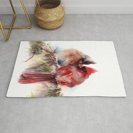 Cardinal Birds Couple Rug