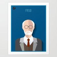 freud Art Prints featuring Freud by Diretório do Design