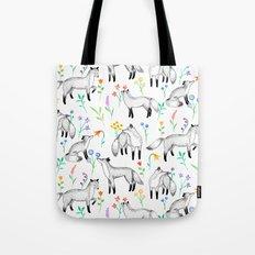 Fox Floral Tote Bag