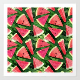 Watermelon Pattern Creation Art Print