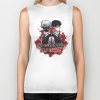 tokyo ghoul Biker Tanks featuring Tokyo Ghoul TRAGEDY  by lilbutt