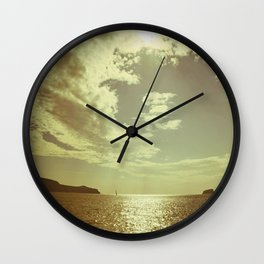 Santorini, Greece 6 Wall Clock