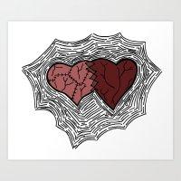 frankenheart Art Print