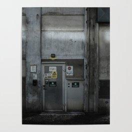 The Dark Metal Door (Color) Poster