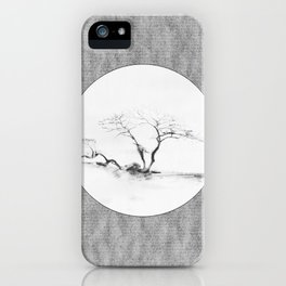 Scots Pine Paper Bag Grey iPhone Case