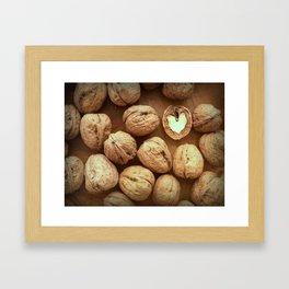 Nutty love Framed Art Print