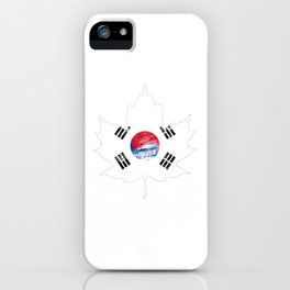 Korea/Canada iPhone Case
