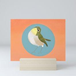Silvereye Bird Mini Art Print