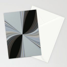 Brown and Grey Tones of Eucalyptus Swirl Pattern Stationery Cards