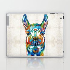 Colorful Llama Art - The Prince - By Sharon Cummings Laptop & iPad Skin