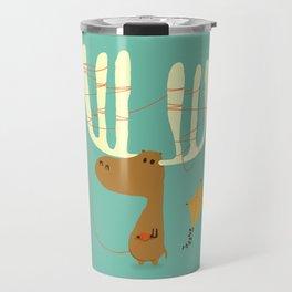 A moose ing Travel Mug