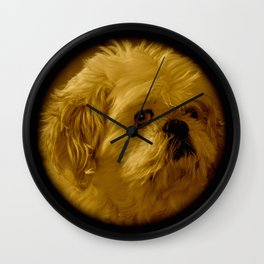 """Denali"" - Lap Dog Wall Clock"