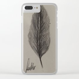 Ruff Feather Clear iPhone Case