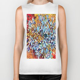 Blues Bouquet with Yellow and Red Biker Tank