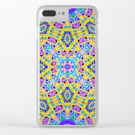 Persian kaleidoscopic Mosaic G521 Clear iPhone Case