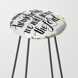 Serve the Lord - Joshua 24:15 Counter Stool