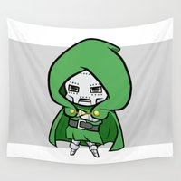 doom Wall Tapestries featuring Dr. Doom  by nuyanata