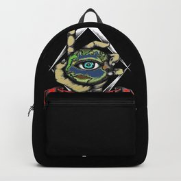Illuminati graphic for men or women who believe gift idea Backpack