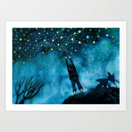 same stars we shared all frozen in the sky Art Print