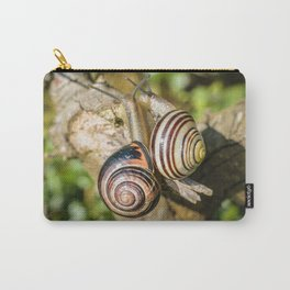 Two Grove Small Striped Snail / Snails Carry-All Pouch