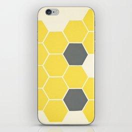 Yellow Honeycomb iPhone Skin