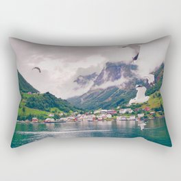Wandering in Fjords Rectangular Pillow
