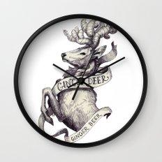 Ginger Deer Wall Clock