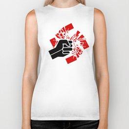 Obliterate Hate (women; black & red) Biker Tank