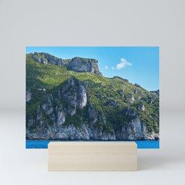 Amalfi Coast rocky cliffed coast Mini Art Print