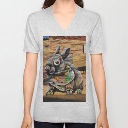 Bunny Rabbit Graffiti Art Unisex V-Neck