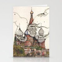 moscow Stationery Cards featuring Moscow II by RiversAreDeep