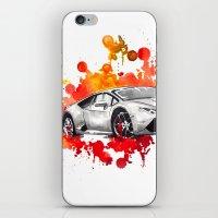 lamborghini iPhone & iPod Skins featuring Lamborghini Huracan by Claeys Jelle Automotive Artwork