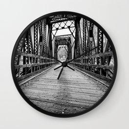 Old Train Bridge Bath, NH Wall Clock