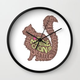 Maine Coon Lovers Wall Clock