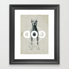 Dog God Framed Art Print