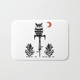 Boho Animals Owl Bath Mat