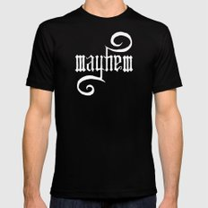 Unleash MAYHEM (Black) Mens Fitted Tee Black MEDIUM