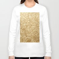 gold glitter Long Sleeve T-shirts featuring Gold glitter by Masanori Kai