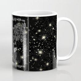 "Tarot ""The Moon"" - silver- cat version Coffee Mug"