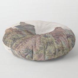 The Spittler In Nuremberg 1856 by Rudolf von Alt | Reproduction Floor Pillow