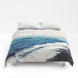 Watercolor Coast Comforters