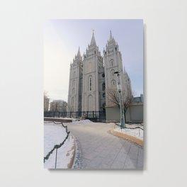 Salt Lake Mormon Temple Metal Print