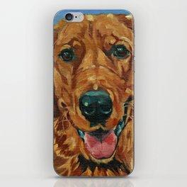 Coper the Golden Retriever Dog Portrait iPhone Skin