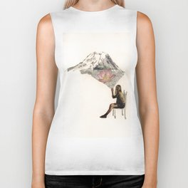 Imagination is more important than knowledge. Knowledge is limited. Biker Tank